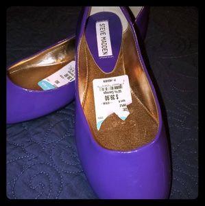 Steven Madden Women's Purple Patent Leather Flats
